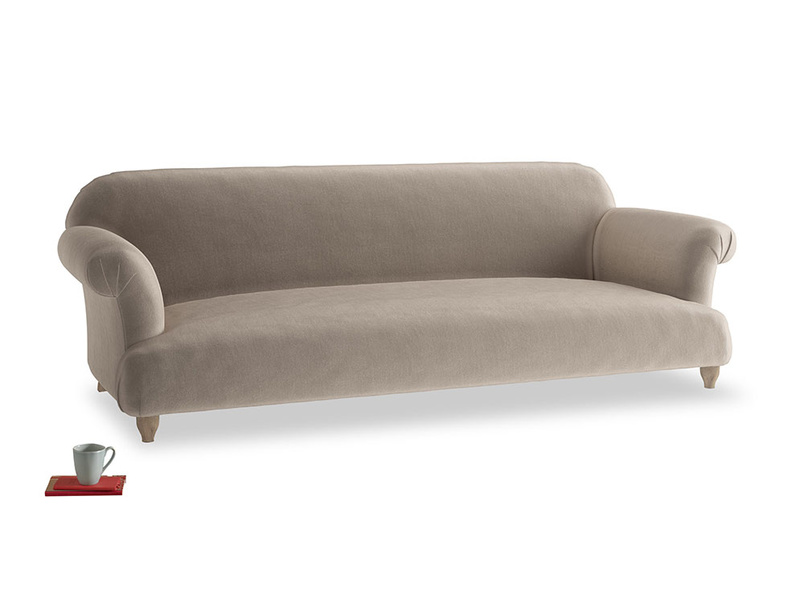 Extra large Soufflé Sofa in Fawn clever velvet