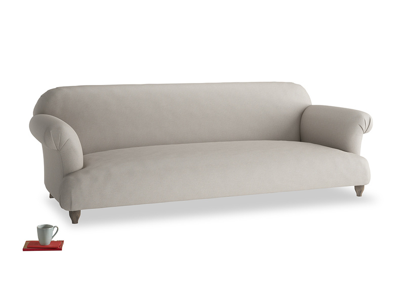 Extra large Soufflé Sofa in Sailcloth grey Clever Woolly Fabric