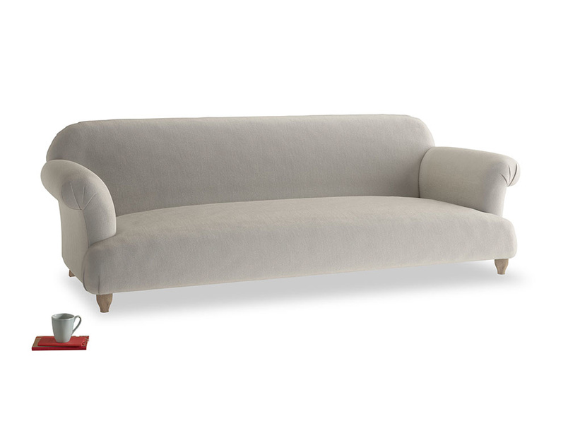 Extra large Soufflé Sofa in Smoky Grey clever velvet