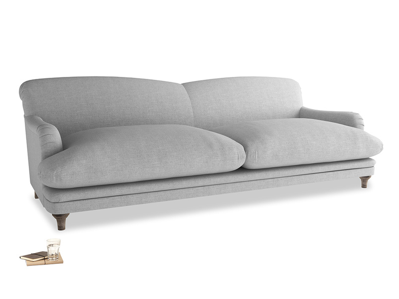 Extra large Pudding Sofa in Cobble house fabric