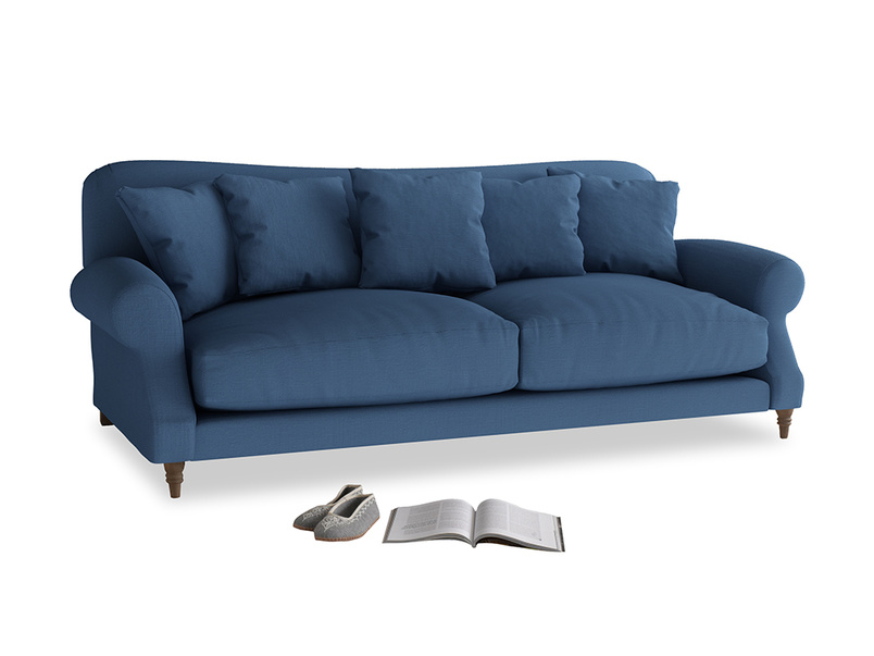 Large Crumpet Sofa in True blue Clever Linen