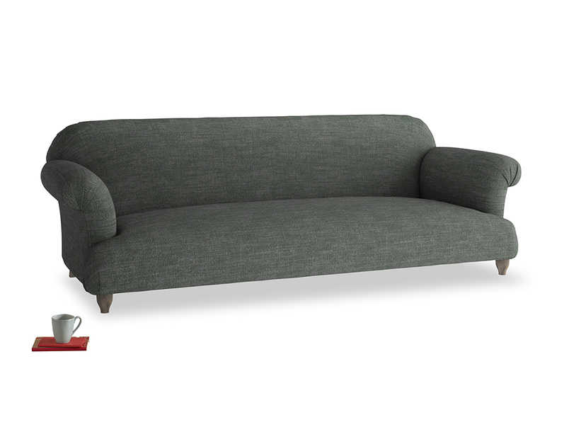 Extra large Soufflé Sofa in Pencil Grey Clever Laundered Linen