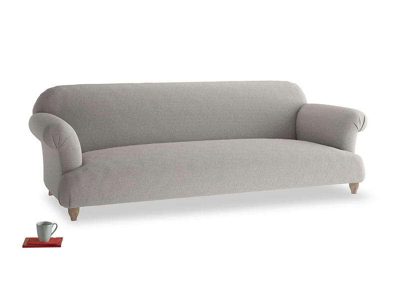 Extra large Soufflé Sofa in Wolf brushed cotton