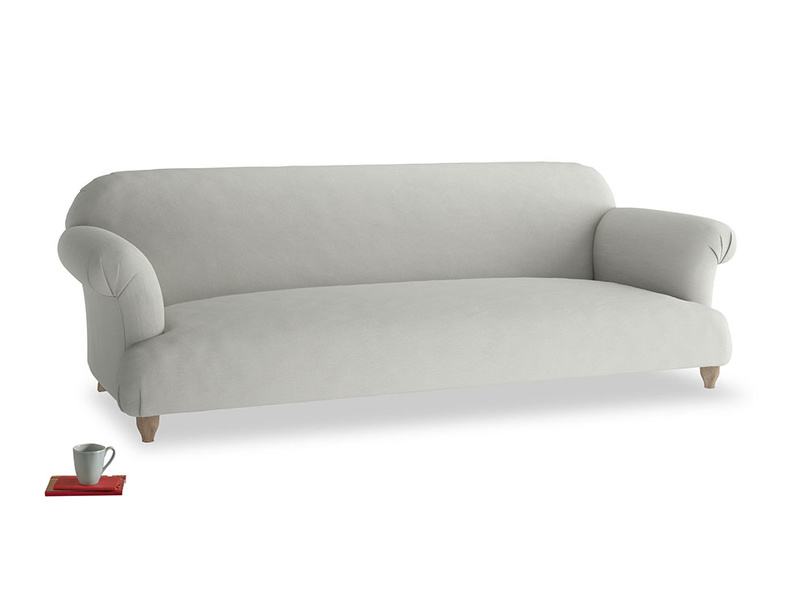 Extra large Soufflé Sofa in Mineral grey clever linen