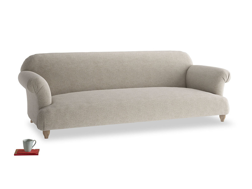 Extra large Soufflé Sofa in Birch wool