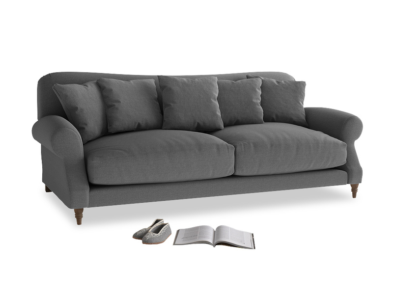 Large Crumpet Sofa in Ash washed cotton linen