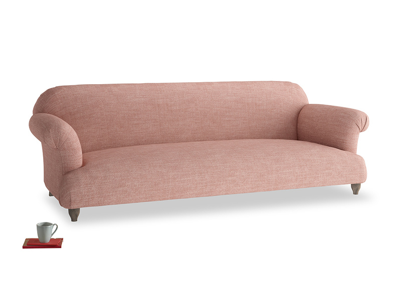 Extra large Soufflé Sofa in Blossom Clever Laundered Linen