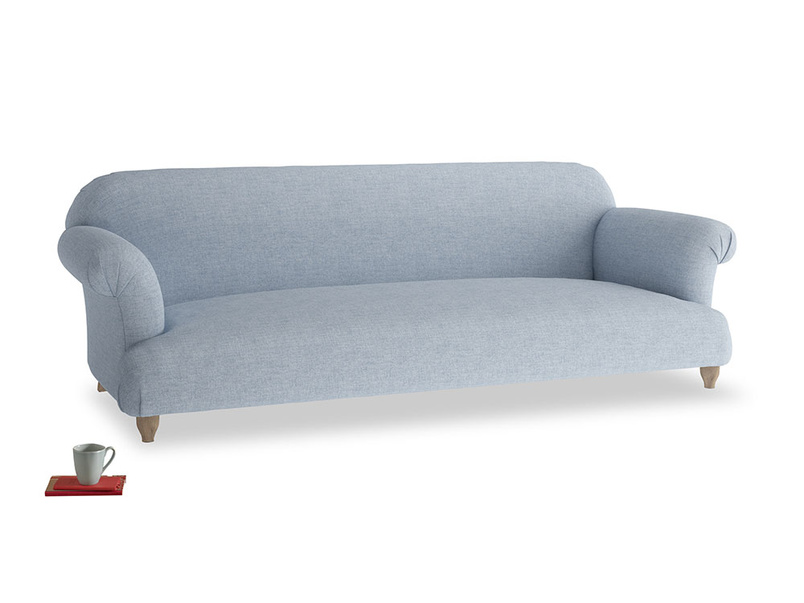 Extra large Soufflé Sofa in Frost clever woolly fabric