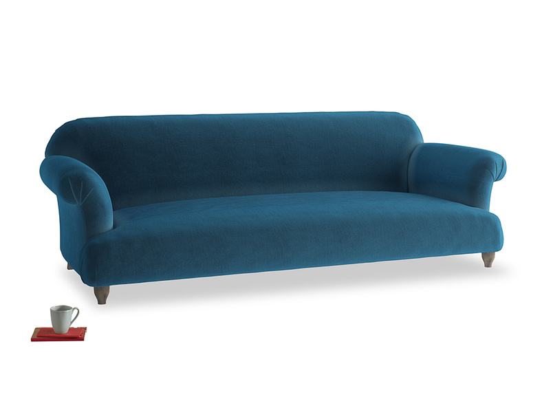 Extra large Soufflé Sofa in Twilight blue Clever Deep Velvet