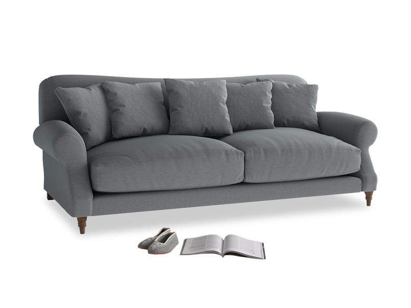 Large Crumpet Sofa in Dusk vintage linen
