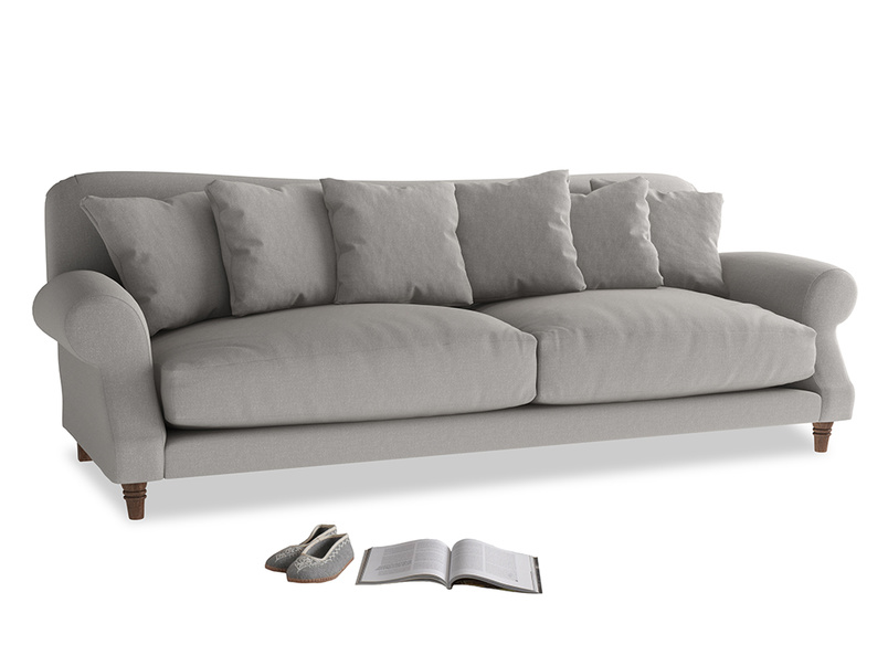 Extra large Crumpet Sofa in Wolf brushed cotton