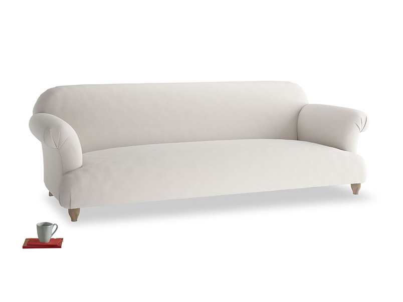 Extra large Soufflé Sofa in Chalk clever cotton