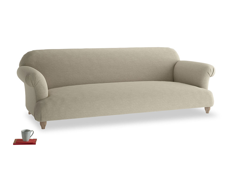 Extra large Soufflé Sofa in Jute vintage linen
