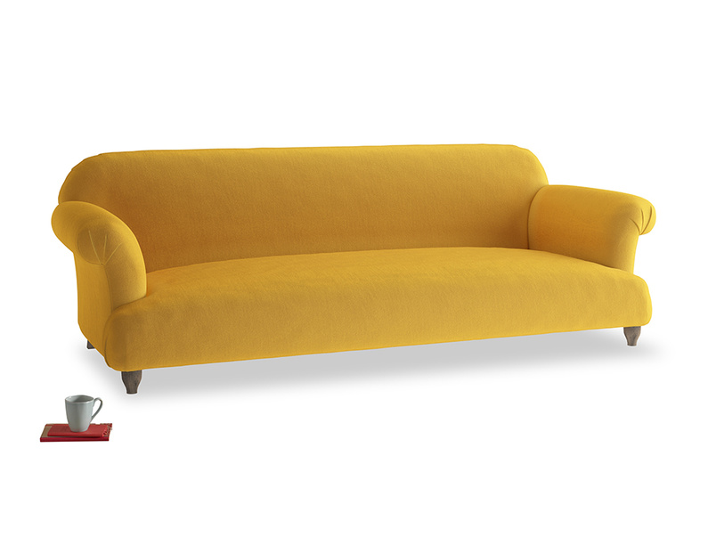 Extra large Soufflé Sofa in Pollen Clever Deep Velvet