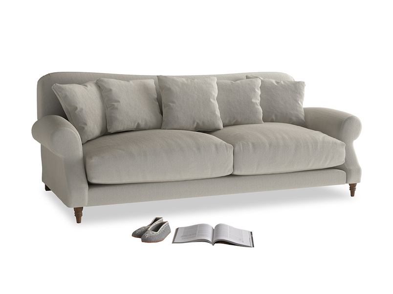 Large Crumpet Sofa in Smoky Grey clever velvet