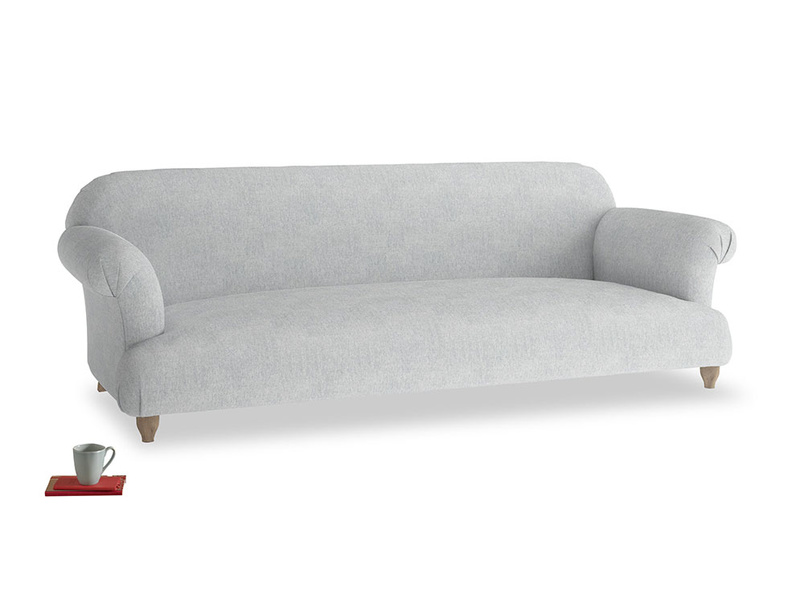 Extra large Soufflé Sofa in Pebble vintage linen