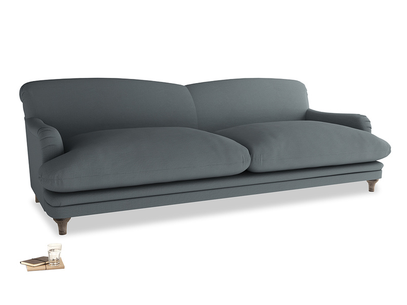 Extra large Pudding Sofa in Meteor grey clever linen