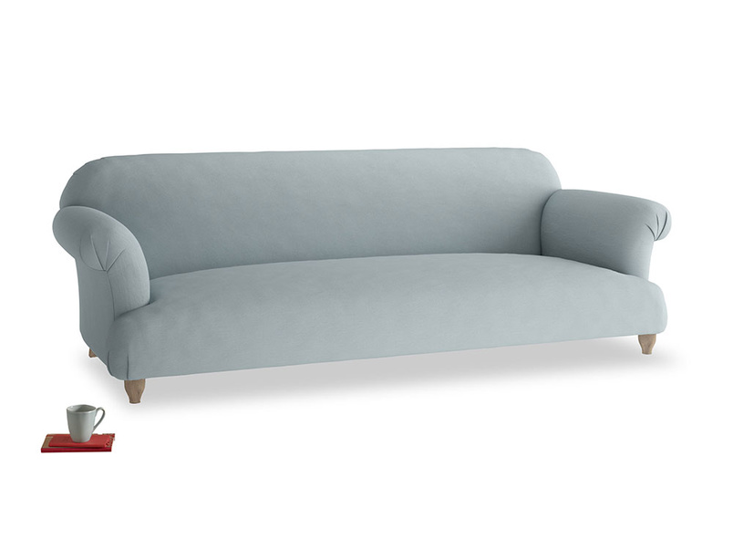 Extra large Soufflé Sofa in Quail's egg clever linen