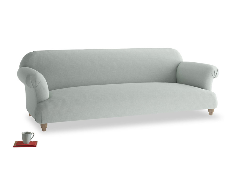 Extra large Soufflé Sofa in French blue brushed cotton