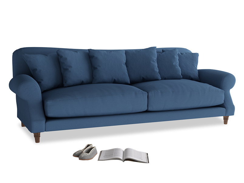 Extra large Crumpet Sofa in True blue Clever Linen