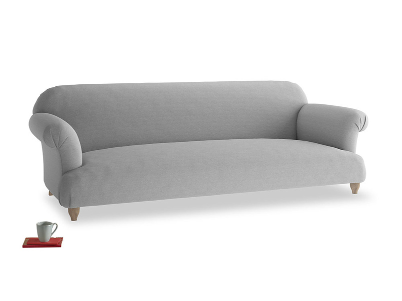 Extra large Soufflé Sofa in Magnesium washed cotton linen