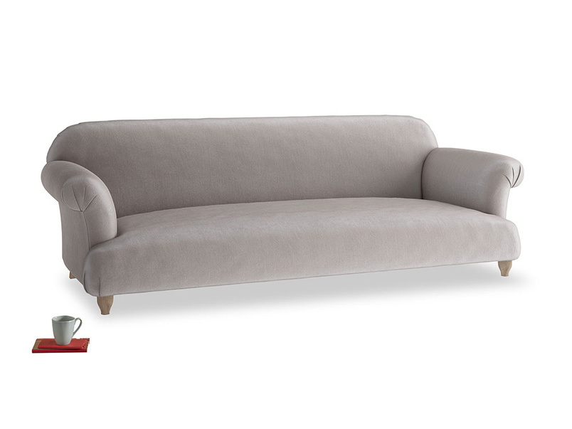 Extra large Soufflé Sofa in Soothing grey vintage velvet