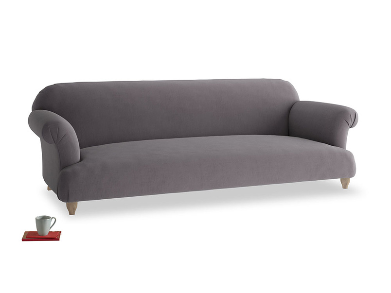 Extra large Soufflé Sofa in Graphite grey clever cotton