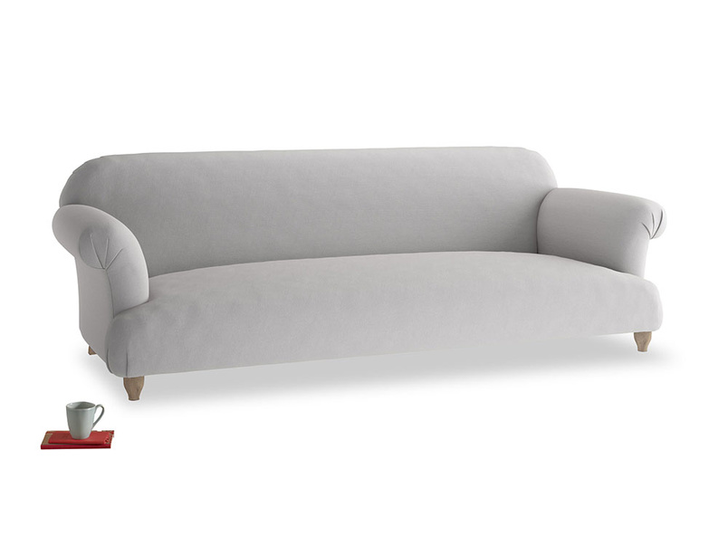 Extra large Soufflé Sofa in Flint brushed cotton