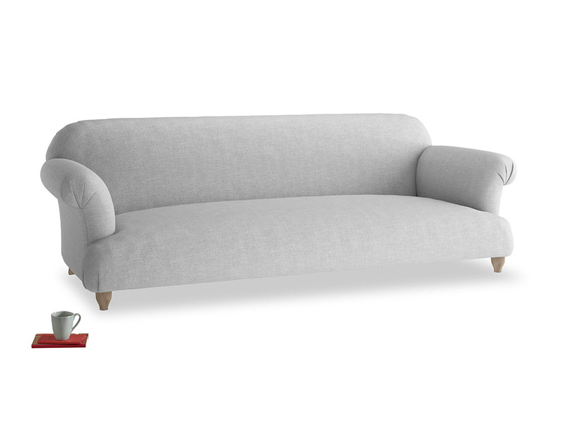 Extra large Soufflé Sofa in Cobble house fabric
