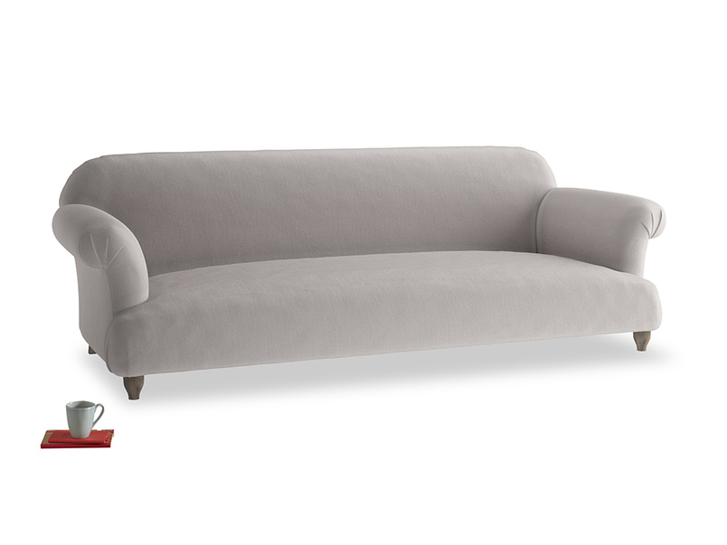 Extra large Soufflé Sofa in Mouse grey Clever Deep Velvet