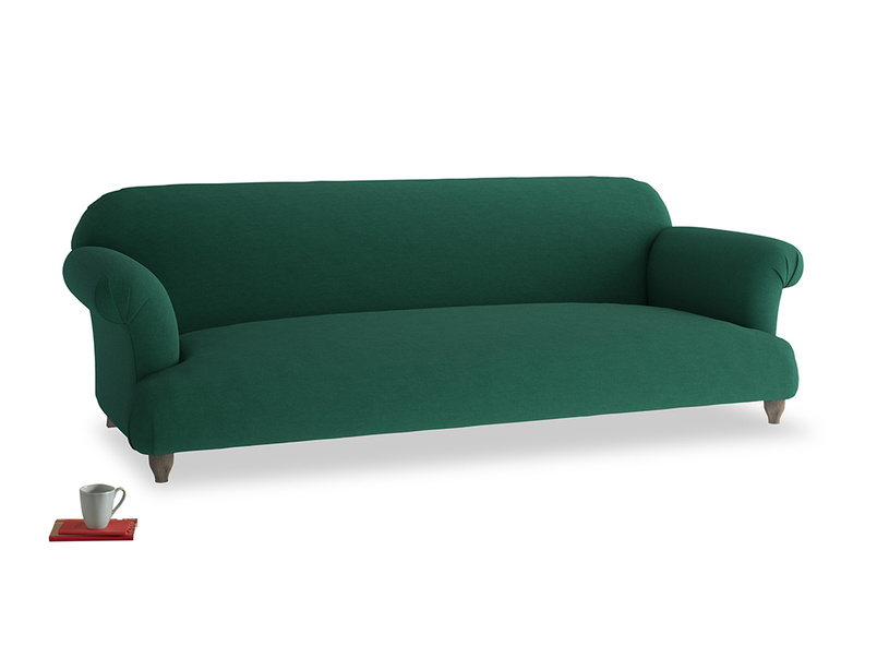 Extra large Soufflé Sofa in Cypress Green Vintage Linen