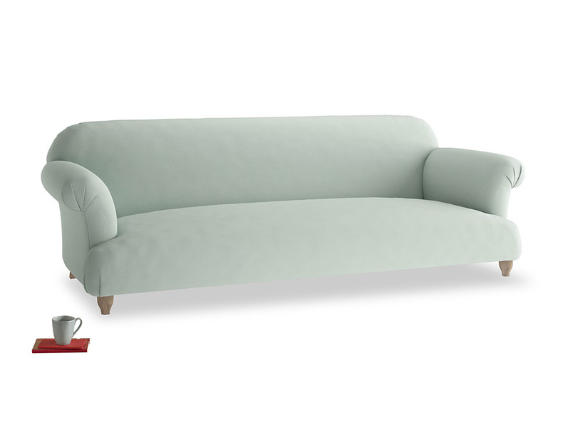 Extra large Soufflé Sofa in Sea surf clever cotton