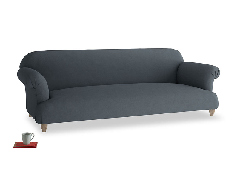Extra large Soufflé Sofa in Lava grey clever linen