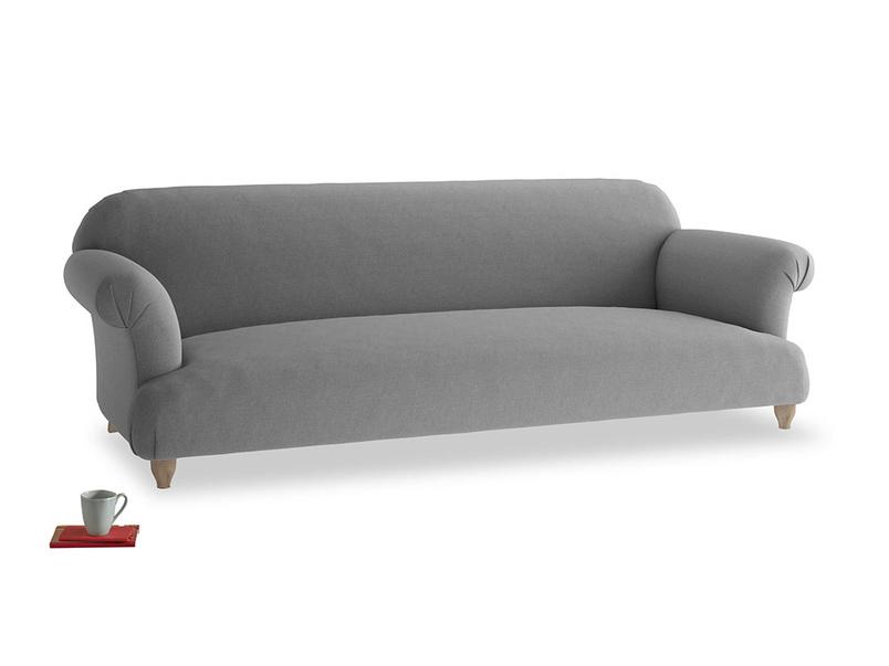 Extra large Soufflé Sofa in Gun Metal brushed cotton