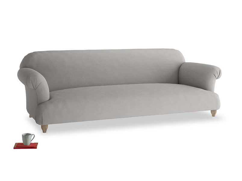 Extra large Soufflé Sofa in Safe grey clever linen