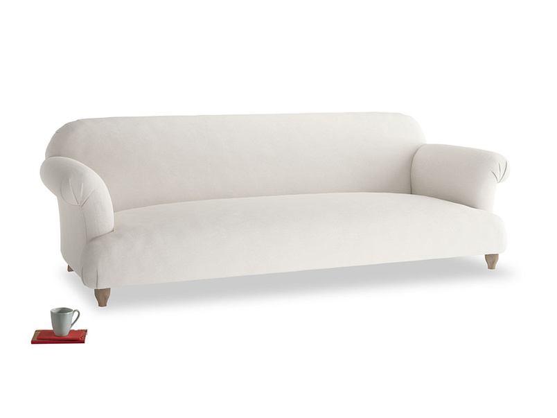 Extra large Soufflé Sofa in Oyster white clever linen