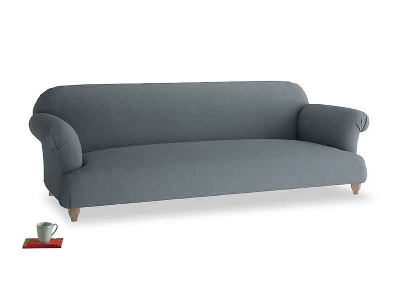 Extra large Soufflé Sofa in Meteor grey clever linen