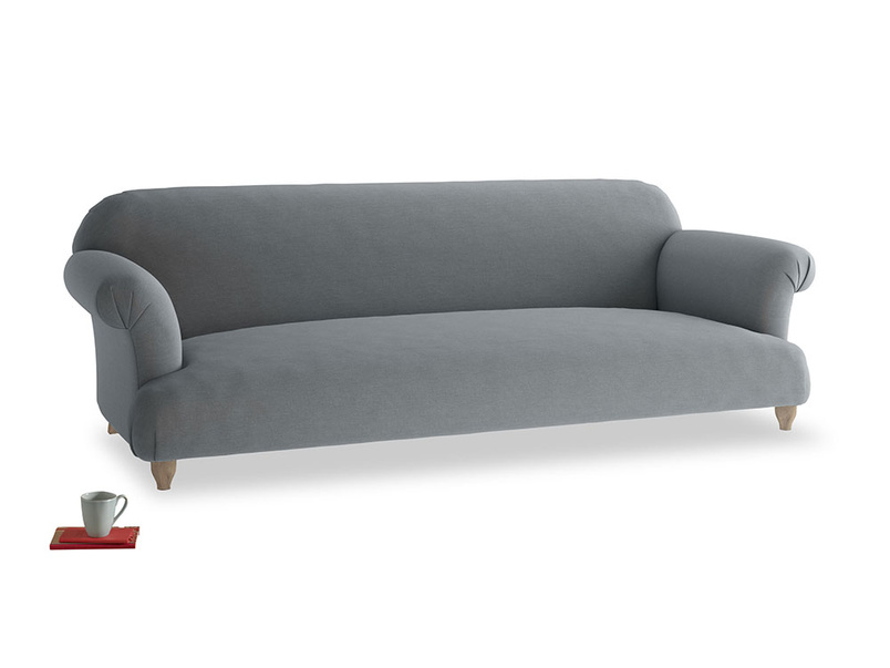 Extra large Soufflé Sofa in Dusk vintage linen