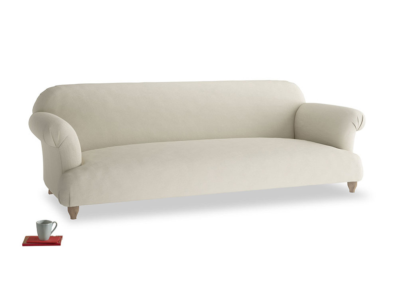 Extra large Soufflé Sofa in Pale rope clever linen