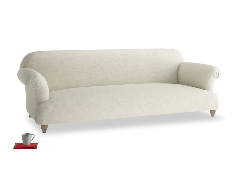 Extra large Soufflé Sofa in Stone Vintage Linen