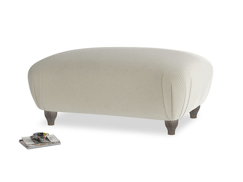 Rectangle Homebody Footstool in Blighty Grey Clever Cord