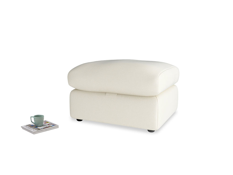 Chatnap Storage Footstool in Alabaster Bamboo Softie