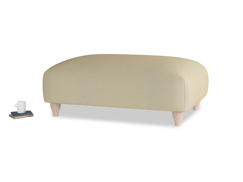 Soufflé Footstool in Parchment Clever Linen