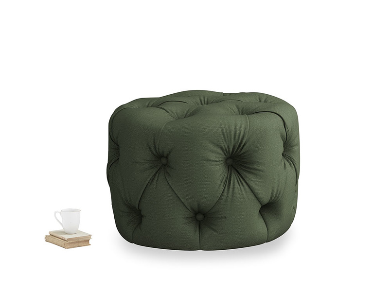 Gumdrop in Forest Green Clever Linen