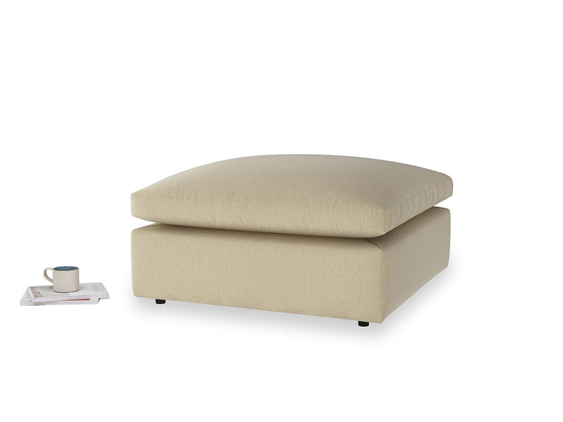 Cuddlemuffin Footstool in Hopsack Bamboo Softie
