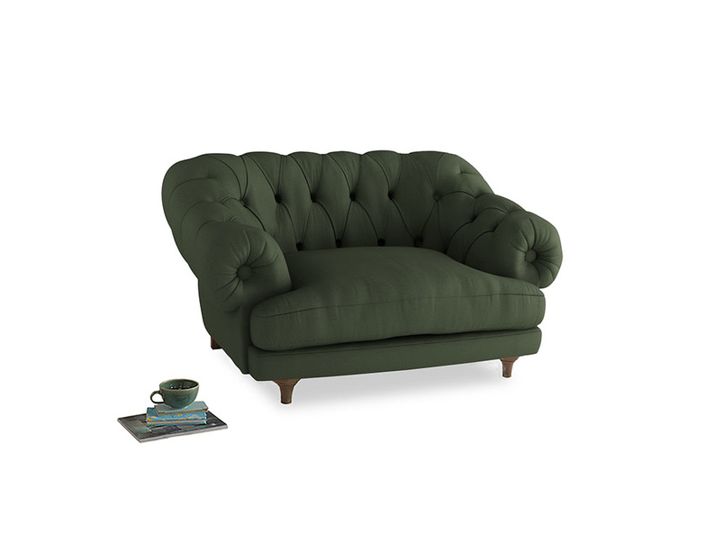 Bagsie Love Seat in Forest Green Clever Linen