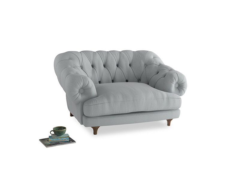 Bagsie Love Seat in Gull Grey Bamboo Softie