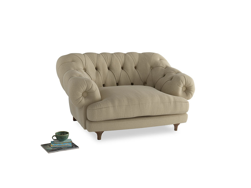 Bagsie Love Seat in Hopsack Bamboo Softie