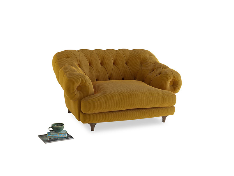 Bagsie Love Seat in Saffron Yellow Clever Cord