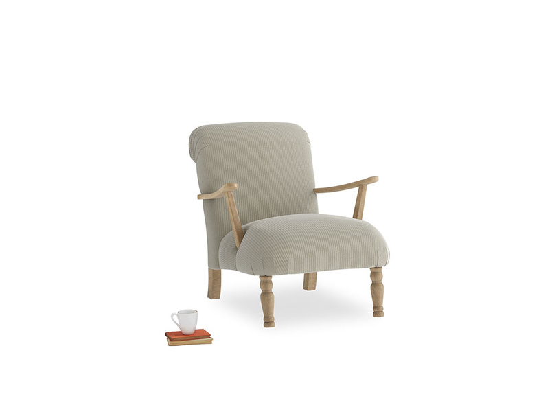 Brew Armchair in Blighty Grey Clever Cord